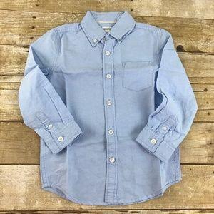Gymboree Boys Oxford Button Down Shirt Blue NWT